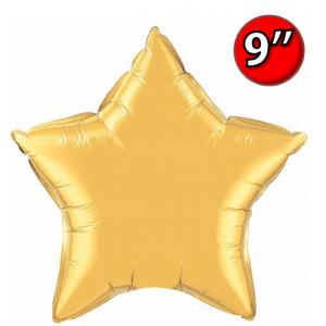 "Foil Star 9"" Metallic Gold / Air Fill (Non-Pkgd.), QF09SP35982 (0) <10 Pcs/包>"