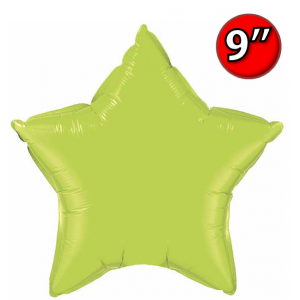 "Foil Star 9"" Lime Green / Air Fill (Non-Pkgd.), QF09SP63777 (0) <10 Pcs/包>"