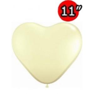 "Heart 11"" Ivory Silk , QL11HF48587  (3)"