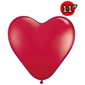 "Heart 11"" Ruby Red , *QL11HJ43732"
