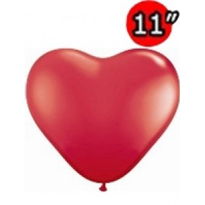 "Heart 11"" Std Red , QL11HS43730"