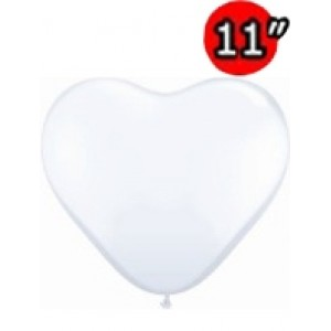 "Heart 11"" Std White , QL11HS43735"