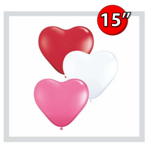 "Heart Assortment 15"" 心形 - Love (50ct) , *QL15HA24022"
