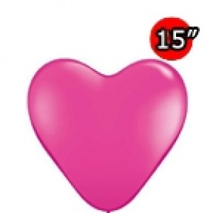 "Heart 15"" Wild Berry (50ct) , *QL15HF30215"