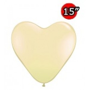"Heart 15"" Ivory Silk (50ct) , *QL15HF78334"