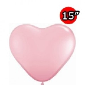 "Heart 15"" Std Pink (50ct) , *QL15HS24693"