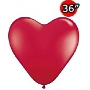 "Heart 36"" (3') Ruby Red (2ct) , *QL36HJ44487"