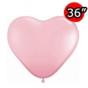 "Heart 36"" (3') 心形 Std Pink (2ct) , *QL36HS44445"