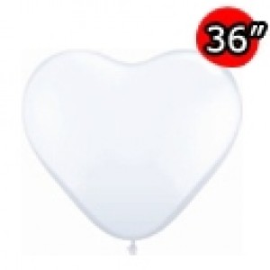 "Heart 36"" (3') 心形 Std White (2ct) , *QL36HS44481"