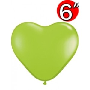 "Heart  6"" Lime Green , QL06HF62590"