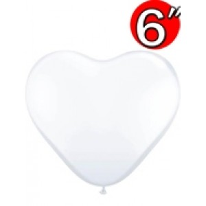 "Heart  6"" Diamond Clear , *QL06HJ43635"