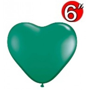 "Heart  6"" Emerald Green , *QL06HJ43636"