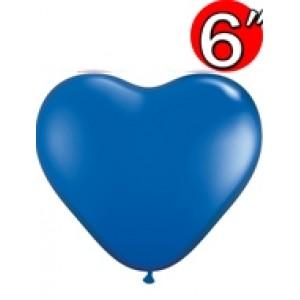 "Heart  6"" Sapphire Blue , *QL06HJ43649(3)"