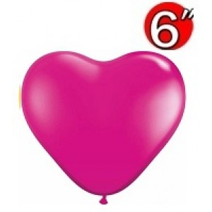 "Heart  6"" Jewel Magenta , *QL06HJ99328"