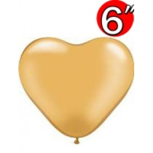 "Heart  6"" Gold , QL06HP17726"