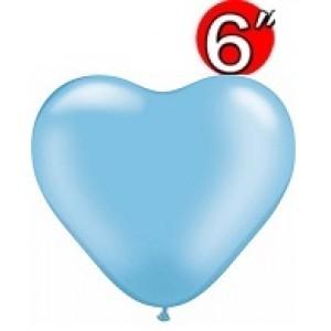 "Heart  6"" Pearl Azure , QL06HP17729(3)"