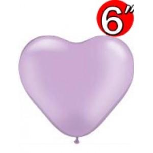 """Heart  6"""" Pearl Lavender , QL06HP17730(3)"""