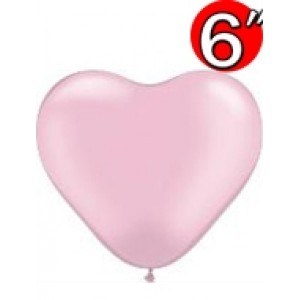 "Heart  6"" Pearl Pink , QL06HP17731(3)"