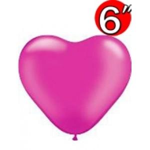 "Heart  6"" Pearl Magenta , QL06HP17733(3)"