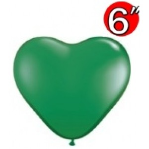 "Heart  6"" Green , *QL06HS13793"