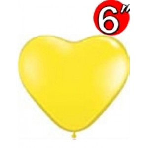 "Heart  6"" Std Yellow , QL06HS13794"