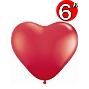 "Heart  6"" Std Red , QL06HS43645"