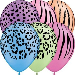 "11"" Neon Assortment - Safari Assortment (50ct) , *QL11RI10094"