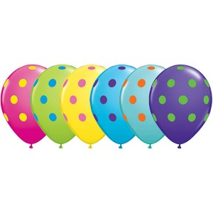 "11"" Big Polka Dots - Colorful Assortment , *QL11RI10240"