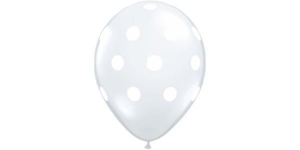 """5"""" Big Polka Dots - Diamond Clear , *QL05RI25873"""
