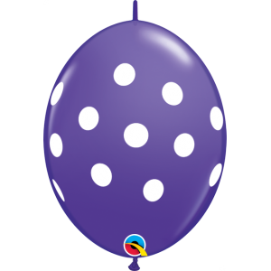 "6"" QL-Big Polka Dots - Purple Violet (50ct) , #QL06LI32024-P"