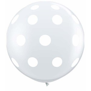 "36"" (3') Big Polka Dots - Diamond Clear (2ct) , *QL36RI33376"