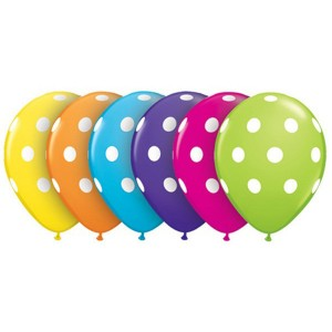 "5"" Tropical Assortment - Big Polka Dots , *QL05RI36711"
