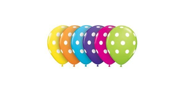 """16"""" Tropical Assortment - Big Polka Dots (50ct) , *QL16RI27498"""
