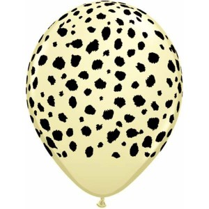 "11"" Cheetah Spots - Ivory Silk (50ct) , *QL11RI37127"