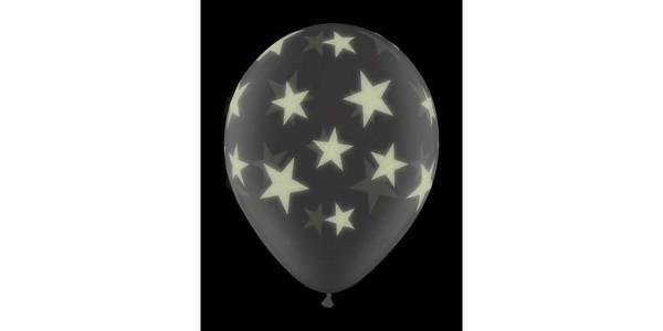 """11"""" Glow Stars-A-Round - Diamond Clear (25ct) , *QL11RI73994"""