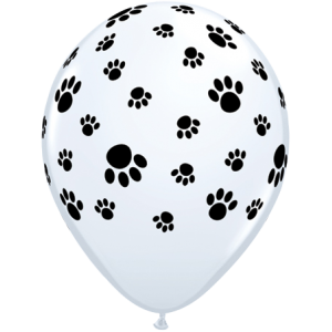 "11"" Paw Prints-A-Round - White (50ct) , *QL11RI76892"