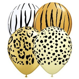 "5"" Safari Ast'm - Cheetah Spots, Tiger Stripes, Zebra Stripes & Leopard Sports - *QL05RI87144"