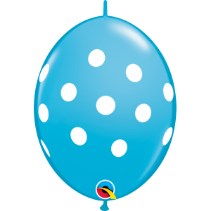 "6"" QL-Big Polka Dots - Robin's Egg (50ct) , #QL06LI32024(C)-R"