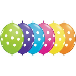 "12"" QL-Tropical Assortment - Big Polka Dots (50ct) , QL12LI90567"