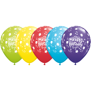 """11"""" Happy Birthday To You Balloon (TW) -  Assorted Color (50ct) , QL11RI11853 (0)"""