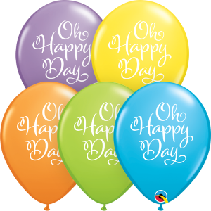 "11"" Simply Oh Happy Day (LBN) - Bright Pastel Assortment (50ct) , QL11RI88264 (0)"