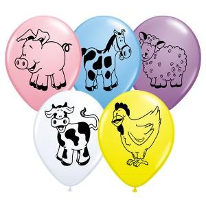 """11"""" Farm Animal Assortment (LBM) - Assorted Color (50ct) , QL11RI37140 (0)"""