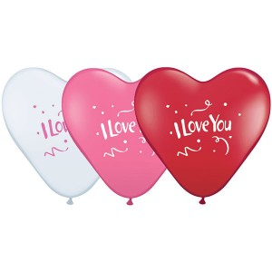 """11"""" I Love You Confetti - Love Assortment (50ct) , *QL15HI27506"""