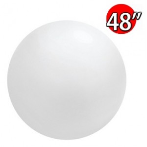 "48"" (4') Chloroprene / White - Giant Cloudbuster Balloon, QL48RS91215 (0)"