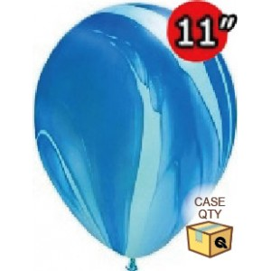 "11"" SuperAgate (40 Bags/ Case) - Blue Rainbow , **QL11RAGC91538"