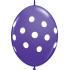 """6"""" QL-Tropical Assortment - Big Polka Dots (50ct) , QL06LI32024"""