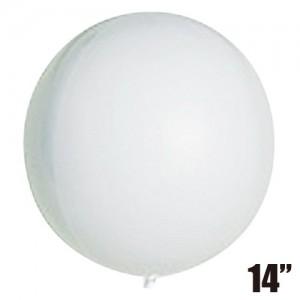 """SAG - 4/B Balloon 14"""" (36cm) White #2311 For Helium , SAG-F2313"""