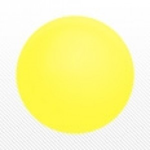 "SAG - PVC Ball 38 cm (24"") Light Yellow , SAG-D6612"