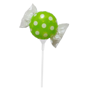 "SAG - Fruit Candy mini  8"" 果汁糖 Melon (with stick) , SAG-C1488 <Air #A>"