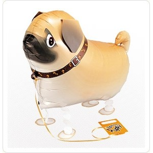 SAG Walking Balloon - Pug 八哥犬 , *SAG-W2298 <Helium #F>